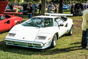 White Lamborghini Countach